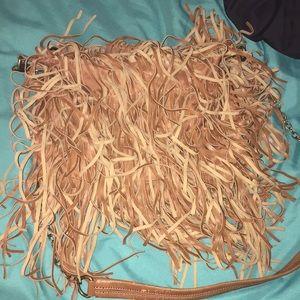 Steve Madden  leather fringe crossbody